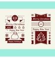 Merry Christmas invitation typographic design vector image
