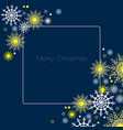 merry christmas background ornament with vector image