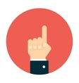 Business man hand pointing up vector image