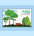 a cozy place to relax with a bench in nature vector image vector image
