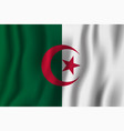 algeria realistic waving flag national country vector image vector image