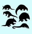 anteater mammal animal silhouette vector image vector image