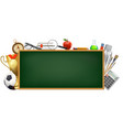 back to school background with a blackboard vector image vector image