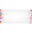 Background with color confetti vector image vector image