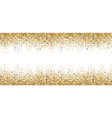 banner with gold sparkles vector image
