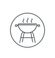 barbecue grill icon linear on white vector image