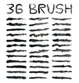 Black dirty brushes vector image vector image