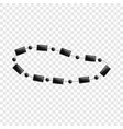 black necklace icon cartoon style vector image