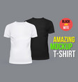 blank or empty t-shirts for men and women vector image vector image
