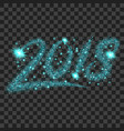 blue particles wave in form of 2018 digits vector image