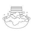 bowl for washing dry cleaning single icon in vector image vector image