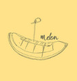 cantaloupe melon fruit vector image vector image