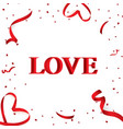 christmas valentine s day red confetti with vector image vector image