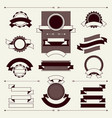 collection labels and ribbons in retro vintage vector image vector image