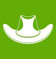 cowboy hat icon green vector image vector image