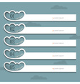 Creative Design template with stylized clouds vector image