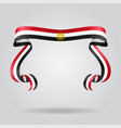 egyptian flag wavy ribon background vector image