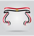 egyptian flag wavy ribon background vector image vector image