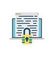 encryption icon vector image vector image