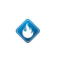 fire symbol and flame for logo design fireball vector image vector image