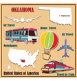 Flat map of Oklahoma vector image vector image