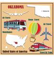 Flat map of Oklahoma vector image