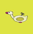 Flat shading style icon kids duck automatic