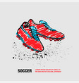 football boots on a white background outline of vector image vector image