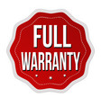full warranty label or sticker vector image vector image