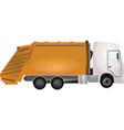 garbadge truck vector image vector image