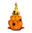 halloween cake icon cartoon style vector image