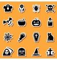 Halloween stickers set vector image vector image