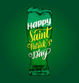 happy saint patricks day handwritten phrase drawn vector image