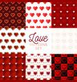heat pattern set heart seamless pattern vector image vector image
