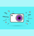 icon of photo camera vector image