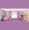 interior room home office vector image vector image