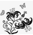 Lilys black vector image vector image