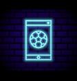 live soccer neon sign football logo neon vector image vector image