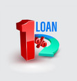 loan one percent with arrow vector image