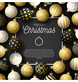 luxury christmas sale square banner christmas vector image