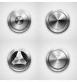 Metallic knobs vector image vector image
