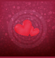 modern happy valentines day with red hearts vector image
