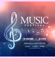 music festival invitation design with notes vector image