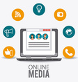 Online media design vector image vector image