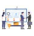 online recruitment hiring human resources vector image
