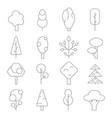 outline trees mono line pictures of vector image