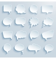 paper communication bubbles vector image vector image