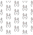 Pig stylized line fun seamless pattern for kids vector image vector image