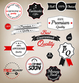 prenium quality labels 2 vector image vector image