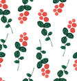 red bilberry watercolor seamless pattern vector image